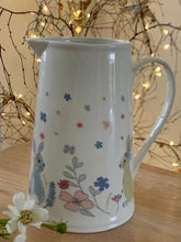 Load image into Gallery viewer, Betsy pastel floral & bunny jug