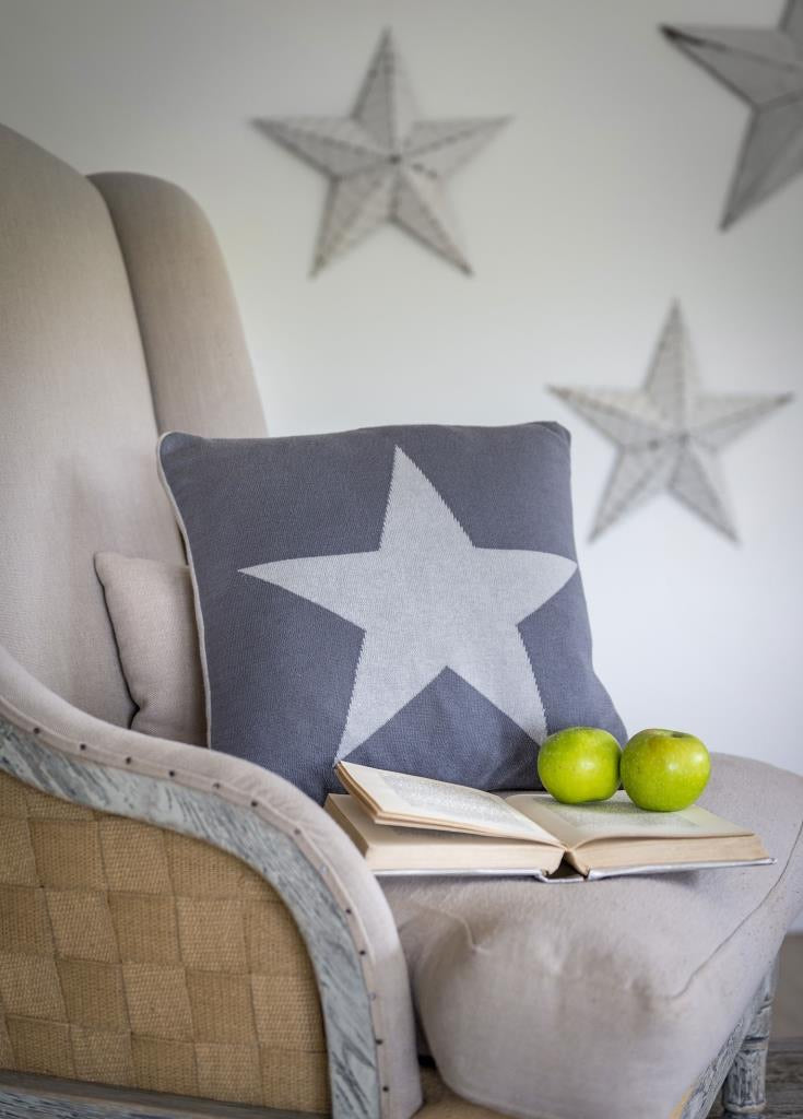 Reversible Star Feather Cushion