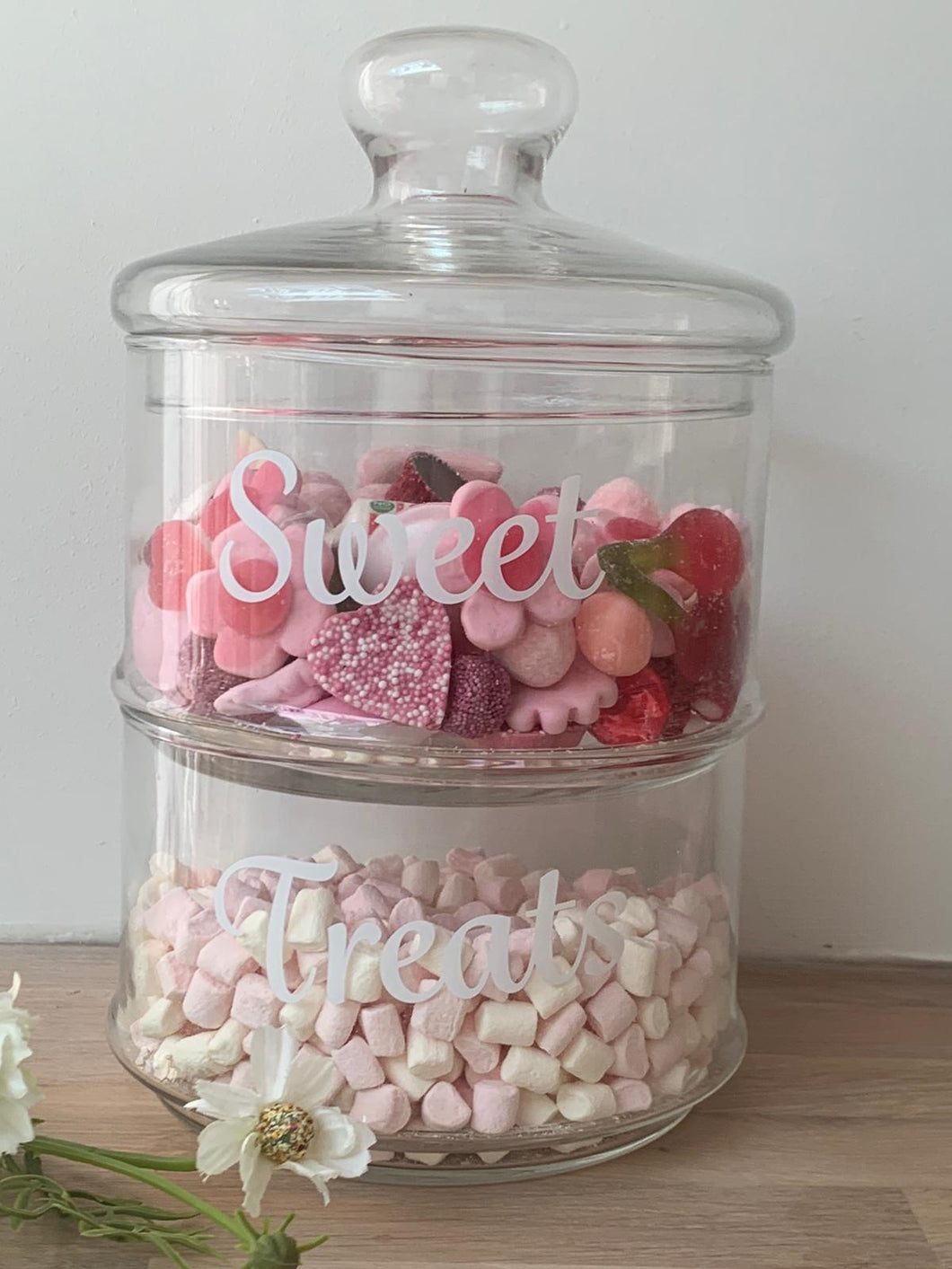Sweet Treats Stackable glass jar