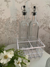 Load image into Gallery viewer, Wired Storage Basket ... White ... Oil & Vinegar Bottle Storage