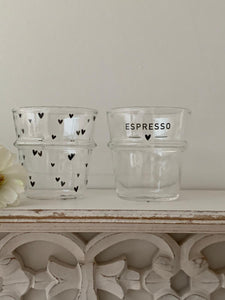 Glass Espresso Tumbler ... set of 2
