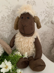 Country sheep ... Door Stop ... Sitting Woolly Sheep
