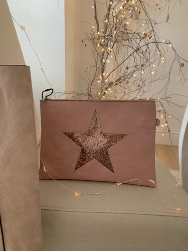 Star clutch bag .... dusty pink