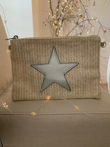 Star Clutch Bag ... Neutral woven