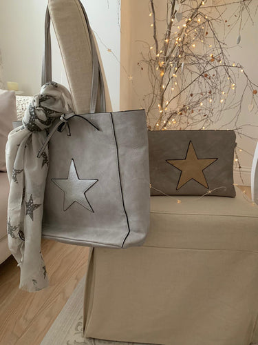 Star Tote bag ... Grey