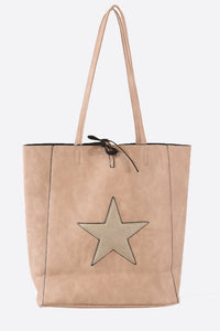 Star Tote bag ... Dusty Pink