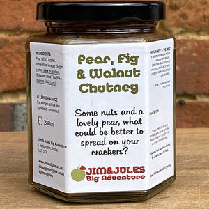 Pear, Fig and Walnut Chutney