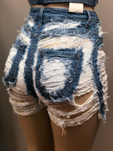 Baby Girl High Waisted Denim Shorts- Medium Blue