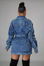 Thank Me Later Denim Dress- Denim