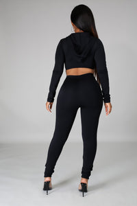 Running A Mile Legging Set- Black