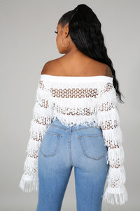 Tru Love Crop Top- White