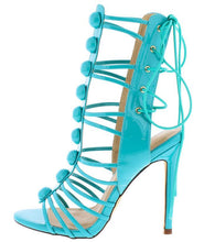 Lace Up Gladiator Stiletto Heel- Mint