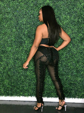 Actin Up Lace Pants- Black