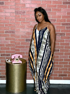 Kelsie Stripes Maxi Dress- Multi