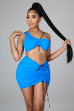 Anything Goes Skirt Set- Turquoise