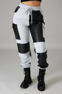 Keepin' It Real Joggers- Black/Gray