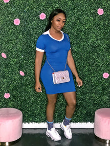 Pretty Thing Tennis Dress- Blue