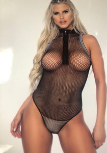 Fishnet Bodysuit- Black