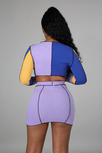 Twitter Queen Skirt Set- Lavender