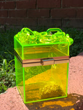 High Class Glass Box Handbag-Lime