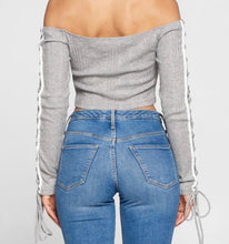 Cutting Ties Cropped Top- Heather Grey