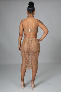 Body Rockin Dress- Taupe