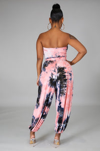 It's Your Command Genie Pant Set- Peach