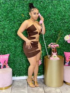Going All Out Midi Dress- Brown (Restock 4/20)