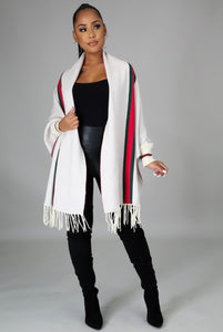 Movie Night Out Cardigan/Poncho- Beige