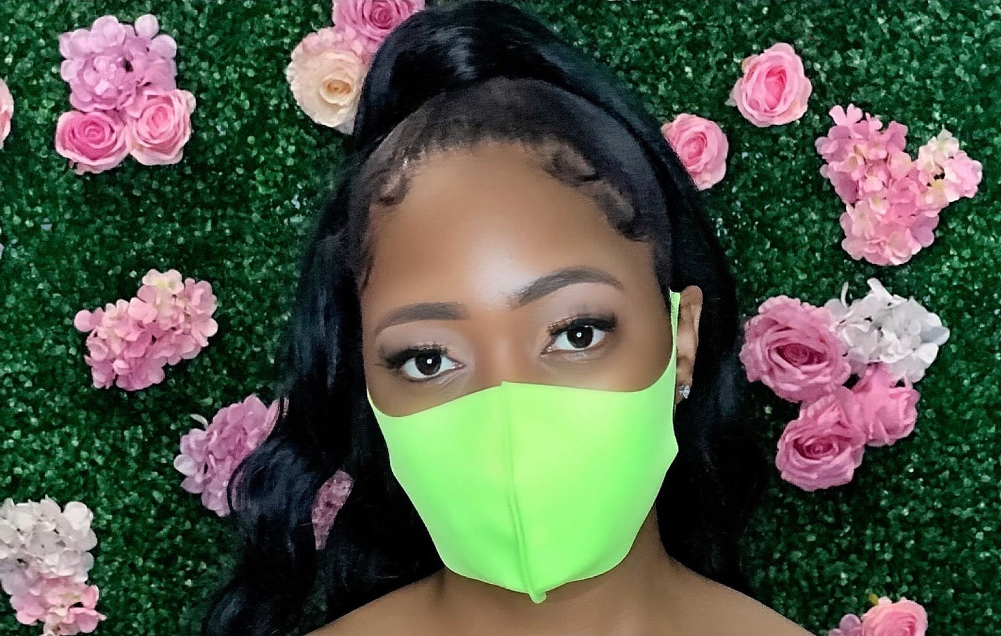 Solid Color Mask- Neon Green