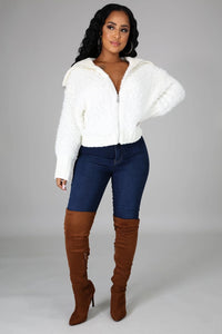 The Nikki Jacket- Ivory