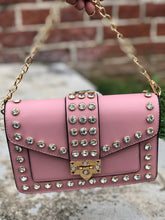 Bad Chic Studded Detail Cross Body Bag- Rose Pink