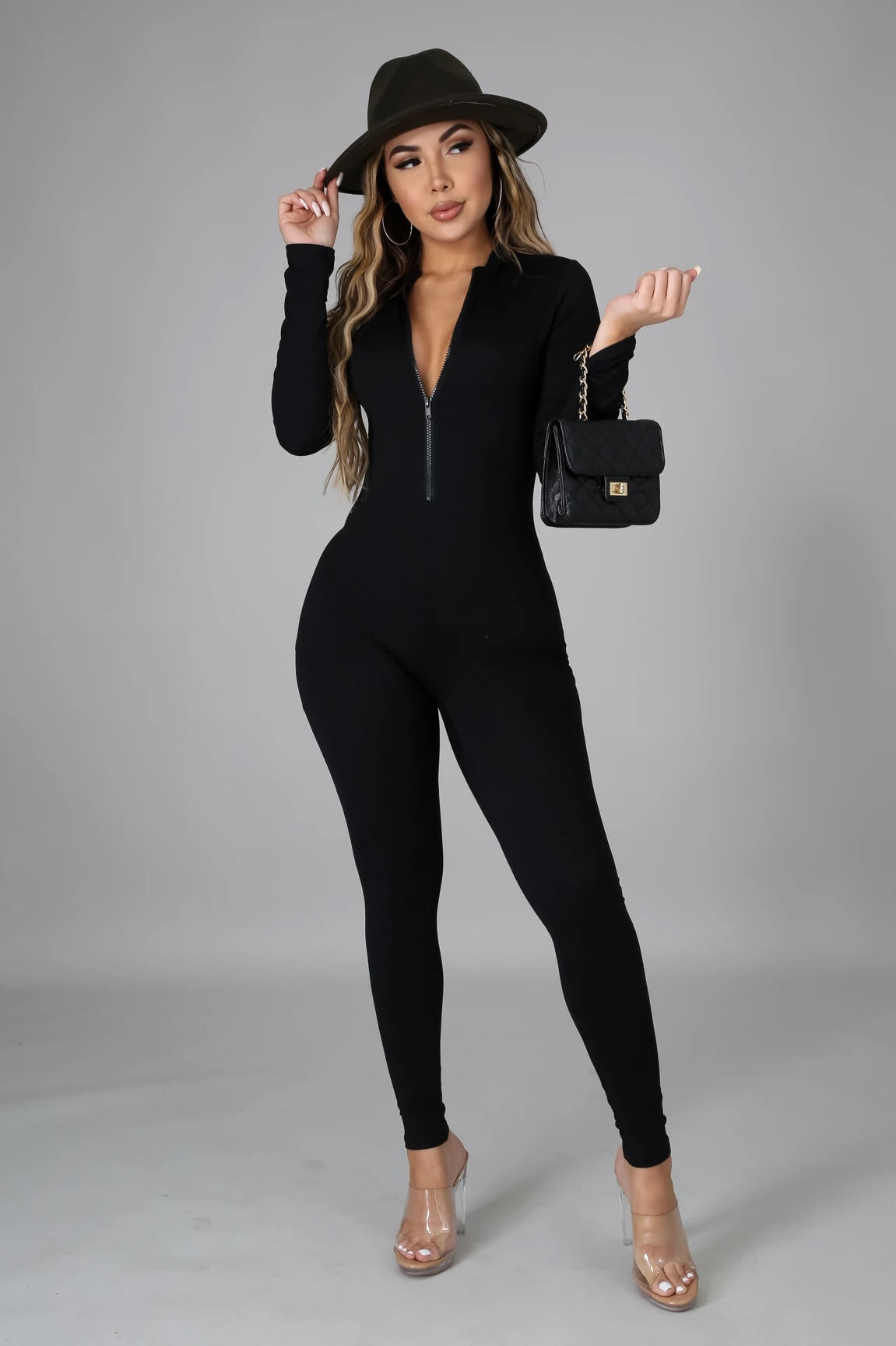 Simple Chic Jumpsuit- Black