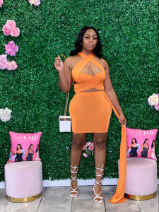 Top Rated Skirt Set- Orange