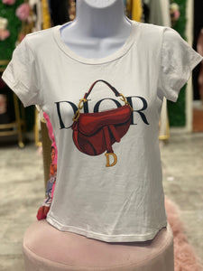 Dior Designer Inspired Top- White