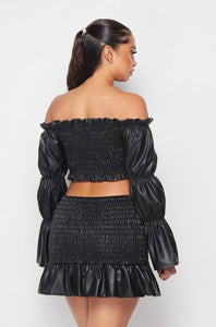 Something Special Skirt Set- Black