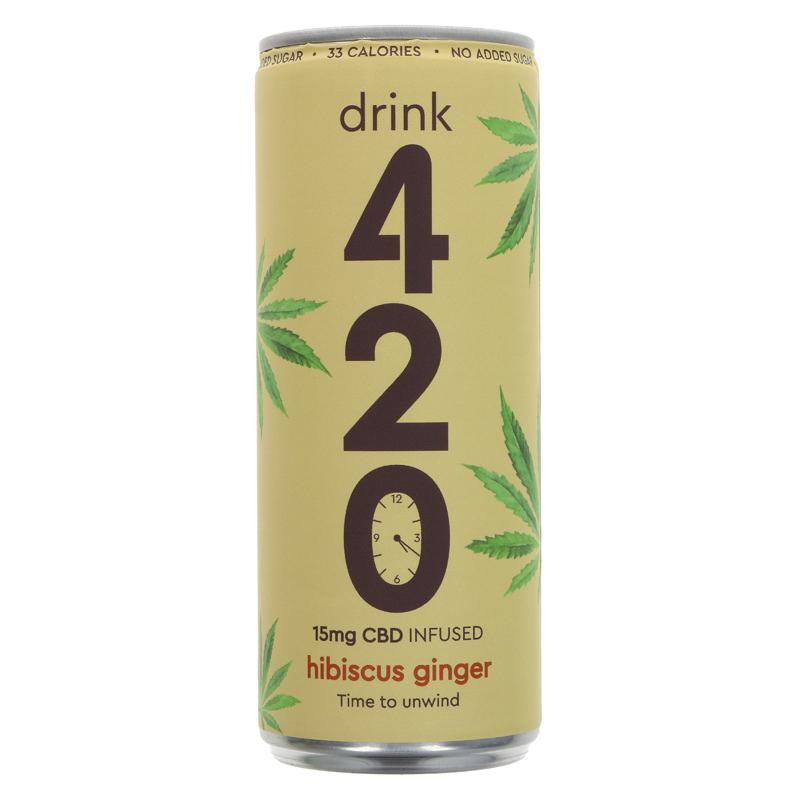 Drink 420 CBD Infused Hibiscus & Ginger 250ml