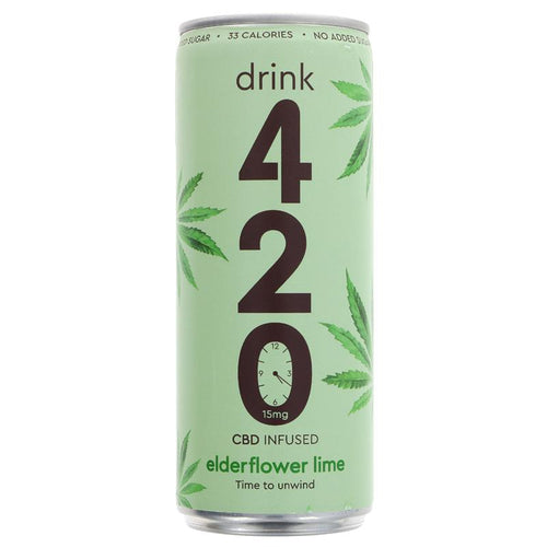 Drink 420 CBD Infused Elderflower & Lime 250ml
