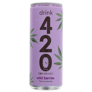 Drink 420 CBD Infused Wild Berries 250ml