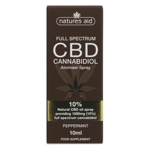Natures Aid CBD Oil 10% Spray 10ml