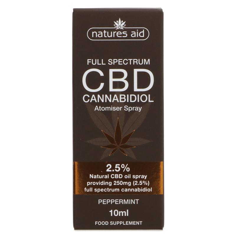 Natures Aid CBD Oil 2.5% Spray 10ml