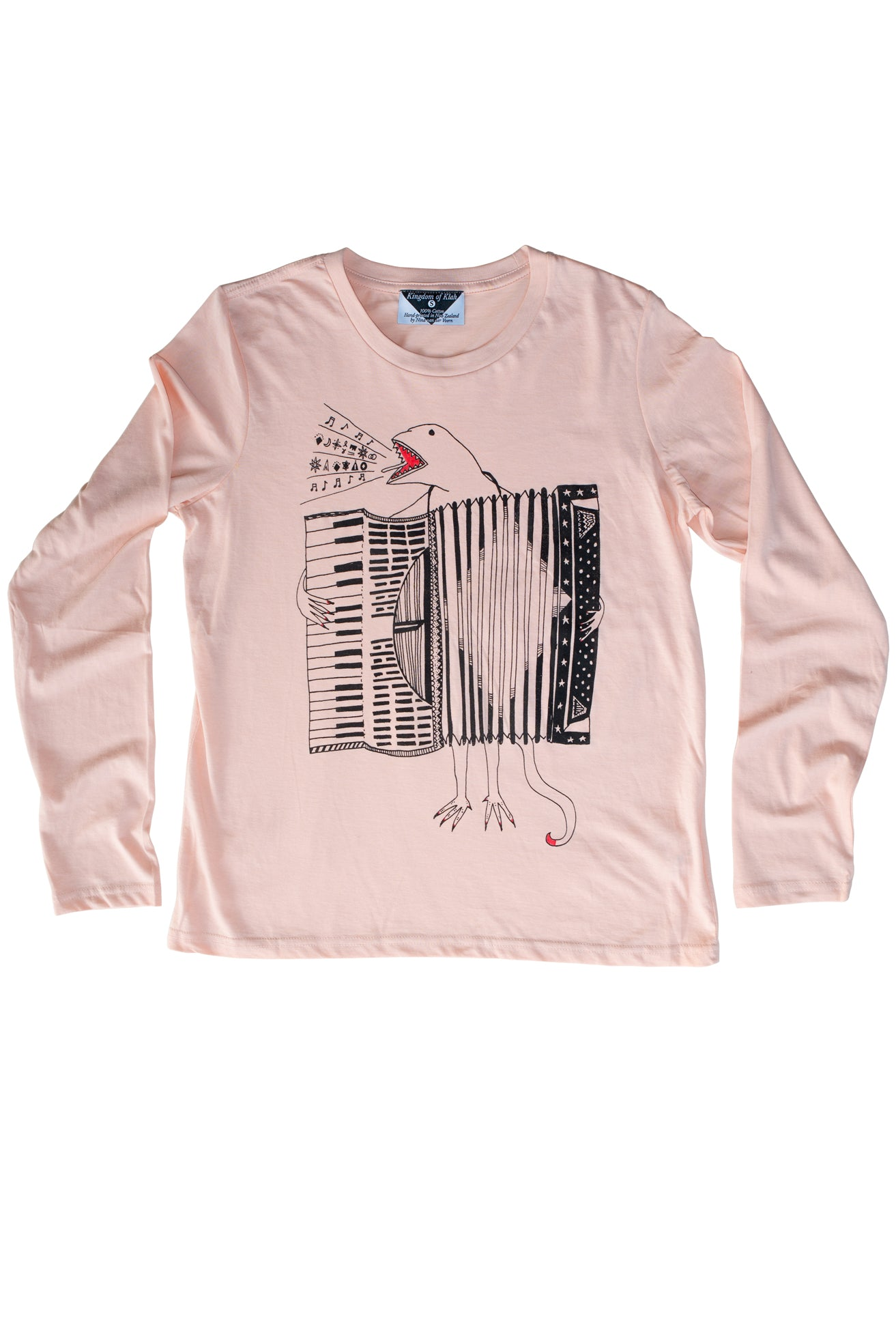 The Accordion of Unexpected Fortunes Women's Longsleeve, Peachy Pink