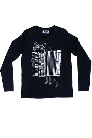 The Accordion of Unexpected Fortunes Women's Longsleeve, Black
