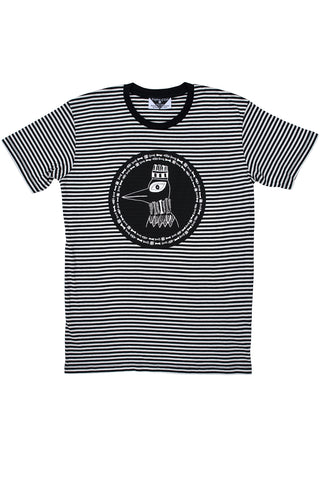 The Boney Birds of Revelry Men's Striped Tee