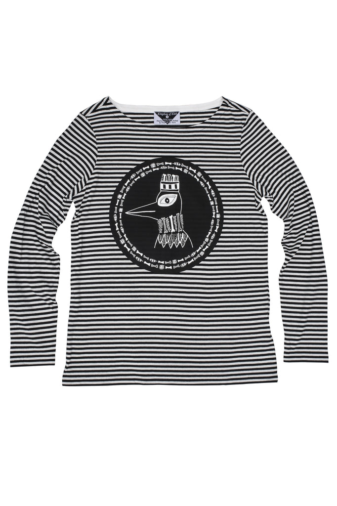 The Boney Birds of Revelry Women's Striped Longsleeve