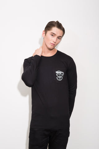 Horatio and The Lime Emperor Longsleeve Pocket Tee