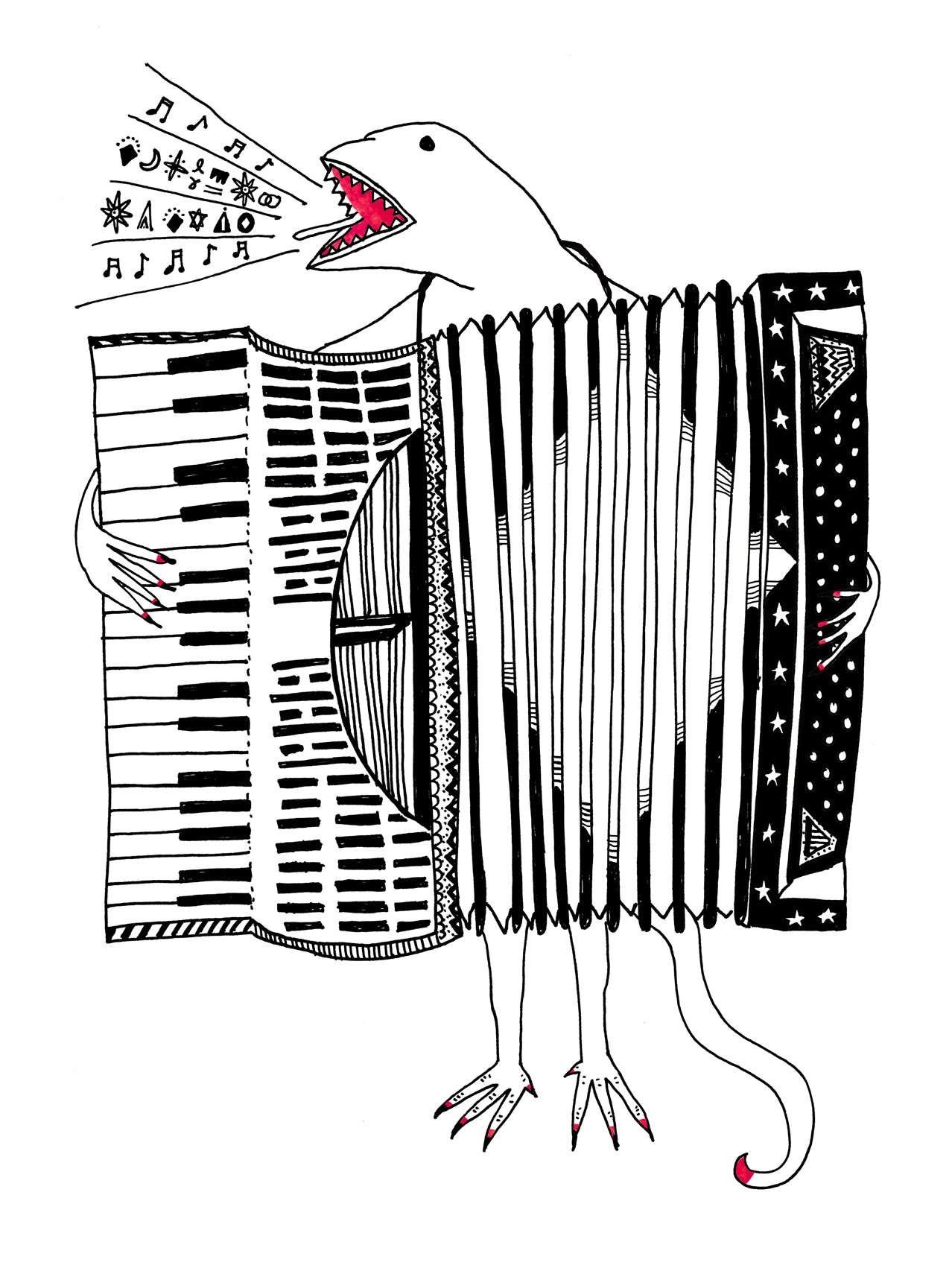 Accordion of Unexpected Fortunes Pillowcase