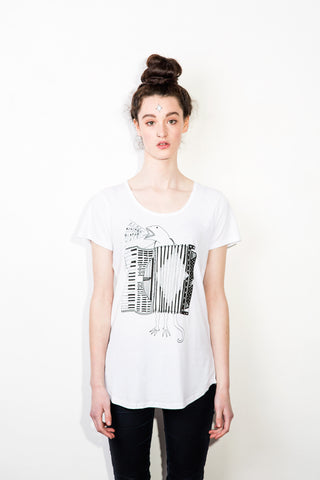 The Accordion of Unexpected Fortunes Women's Tee