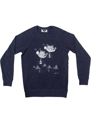 The Lantern Moths' Commemoration Navy Marle Sweatshirt
