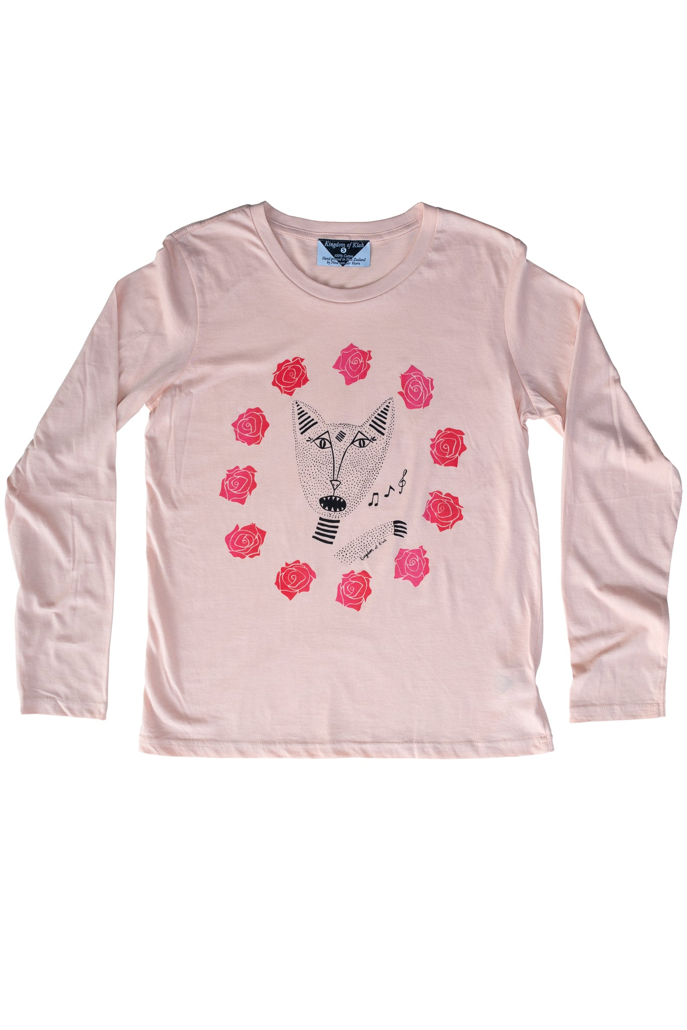 Native Singing Cats Women's Longsleeve, Peachy Pink